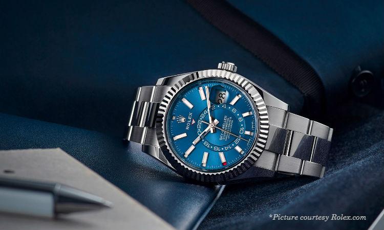 rolex sky dweller blue dial